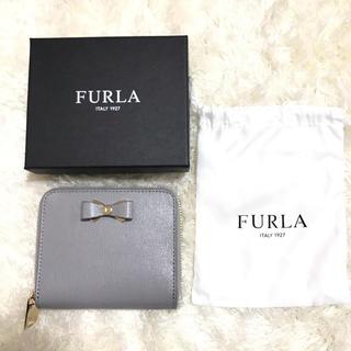 フルラ(Furla)の新品 フルラ 折財布 グレー リボン FURLA(財布)