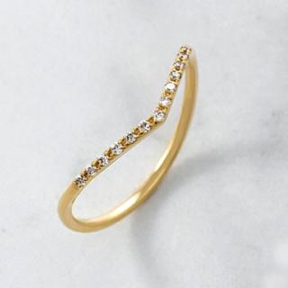 アガット(agete)のアガット 極美品現行 agete ダイヤモンドリング K18 定価46200円(リング(指輪))