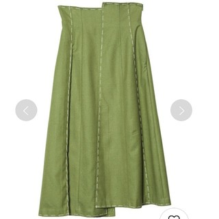 Ameri VINTAGE - Ameri VINTAGE ステッチパネルスカート