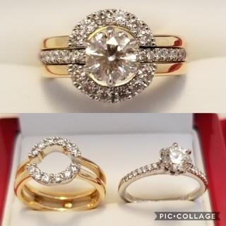 最終 3way デザインダイヤモンドリング(リング(指輪))