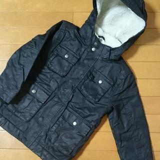 エイチアンドエム(H&M)のH&Mジャケット黒120防寒モッズコート中ボアジャンパー(ジャケット/上着)
