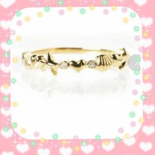 アーカー(AHKAH)の美品 AHKAH  アーカー k18  シェリーライン  リング 10号(リング(指輪))