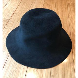 Max Mara - Max Mara スウェード調ブラック帽子