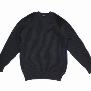 COMOLI - COMOLI コモリ 18W BLACK SHEEP別注ガンパッチニット 3 黒