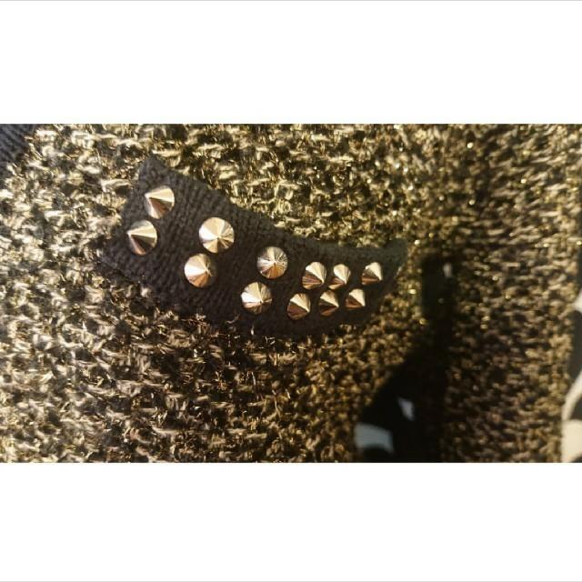 LE CIEL BLEU(ルシェルブルー)の美品★ルシェルブルー★ツィード風ニット★M~Lサイズ★激安 レディースのトップス(ニット/セーター)の商品写真