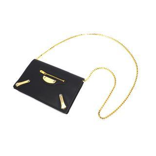 バレンシアガバッグ(BALENCIAGA BAG)のバレンシアガ 420837 チェーンウォレット カーフレザー ゴールド金具(ショルダーバッグ)