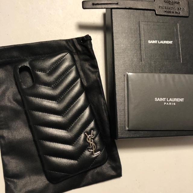Saint Laurent - 新品100%本物 サンローラン iphoneX/XS ケース ブラックの通販
