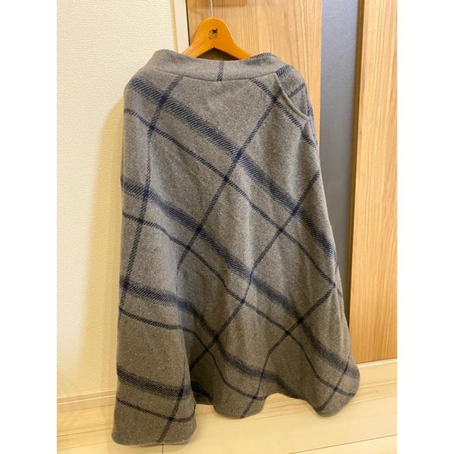 JEWELIUM(ジュエリウム)の大柄チェック起毛チェックフレアスカート レディースのスカート(ロングスカート)の商品写真