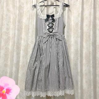 アンジェリックプリティー(Angelic Pretty)の♡Fancy Stripe ジャンパースカート♡(ひざ丈ワンピース)