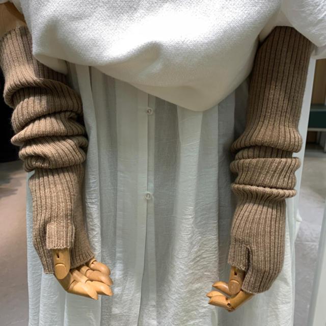 Ralph Lauren(ラルフローレン)のRALPH LAUREN アームウォーマー 訳あり レディースのファッション小物(手袋)の商品写真