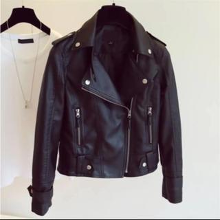 ローズバッド(ROSE BUD)のライダースジャケット  #ブラック  新品未使用 送料無料 No.01(ライダースジャケット)