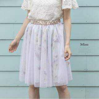 トッコ(tocco)のtocco closet フラワースカート(ひざ丈スカート)