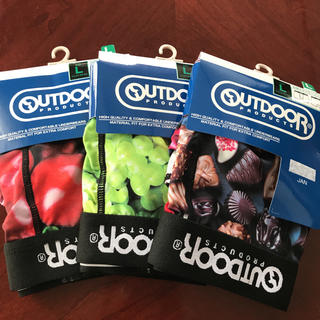 アウトドアプロダクツ(OUTDOOR PRODUCTS)の新品 OUTDOOR ボクサーパンツ Lサイズ 3枚セット(ボクサーパンツ)