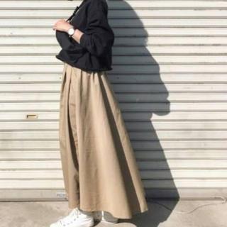 Ungrid - AmericanHolic 切りっぱなしベージュロングスカート