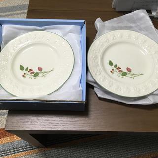 WEDGWOOD - wedgwoodウェッジウッド2枚組ペアraspberryプレート皿21cm新品