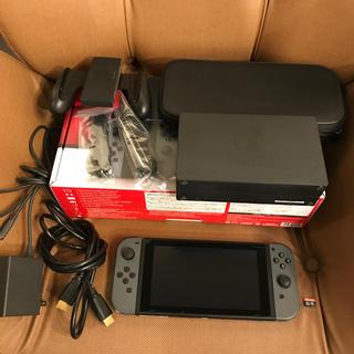 任天堂 - Nintendo Switch グレー SDカード、キャリングケース付き