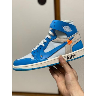 OFF-WHITE - Nike Air Jordan 1 Off-White UNC 26cm