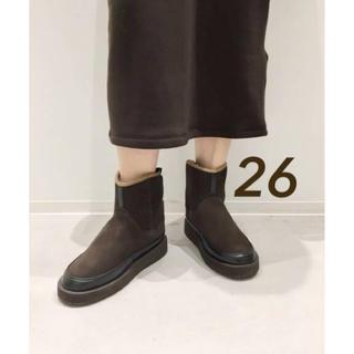 アパルトモンドゥーズィエムクラス(L'Appartement DEUXIEME CLASSE)の新品 アパルトモン SUICOKE ムートンブーツ ブラウン 26(ブーツ)