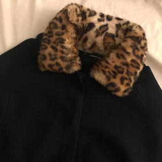 ザラ(ZARA)のyes様専用✳︎。leopard collar coat(ニットコート)