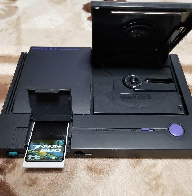 NEC(エヌイーシー)のPCエンジンDUO本体 アーケードカードケース無し エンタメ/ホビーのゲームソフト/ゲーム機本体(家庭用ゲーム機本体)の商品写真