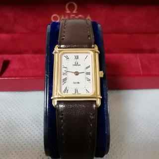 OMEGA - 美品。OMEGA オメガ devil ホワイトローマン 腕時計 スクエア