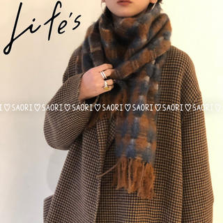 TODAYFUL - TODAYFUL【新品タグ付】Check Wool Stole★ungrid
