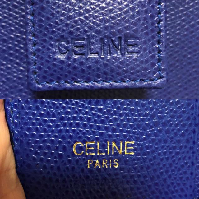 celine(セリーヌ)の新品 セリーヌ 本革 ビンテージ 折財布 ミニ財布 レディースのファッション小物(財布)の商品写真
