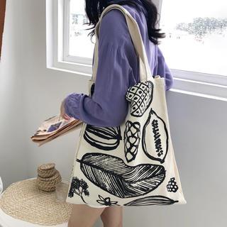 ❀ トートバッグ A4 肩掛けバッグ ハンドバッグ キャンバス鞄(トートバッグ)