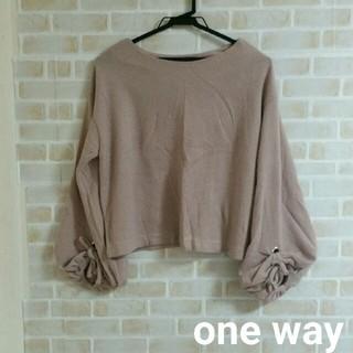 one*way - one way  ボリューム袖 ニット