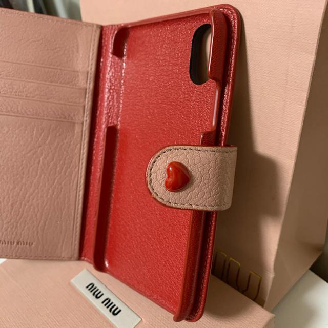 miumiu(ミュウミュウ)のmiumiu マドラスレザー IPHONE X XS カバー スマホ ケータイ スマホ/家電/カメラのスマホアクセサリー(iPhoneケース)の商品写真