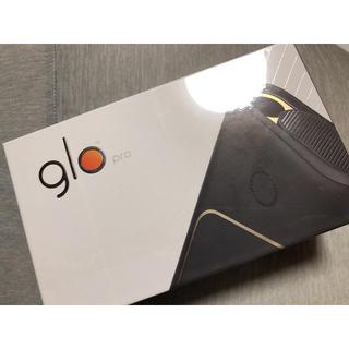 グロー(glo)の即購入OK❤︎glo™️ pro 本体 新品未開封 ブラック BLACK(タバコグッズ)