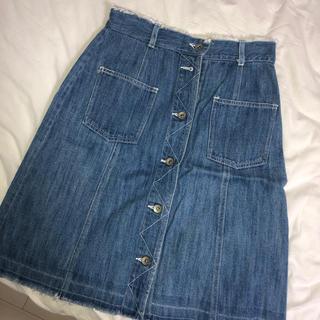 ダブルクローゼット(w closet)のwcloset デニム スカート(ひざ丈スカート)