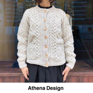 ネストローブ(nest Robe)のathena design(アテナデザイン)ニットカーディガン(ニット/セーター)