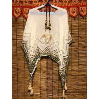 チャイハネ(チャイハネ)のyul  ポンチョ風ガーゼ素材の羽織り⭐️日曜日までSALE❗️(シャツ/ブラウス(長袖/七分))