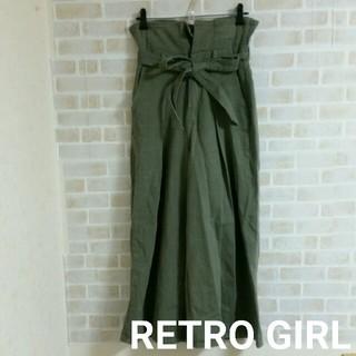 RETRO GIRL - 【本日削除/最終値下げ】RETRO GIRL  ハイウエスト ワイドパンツ