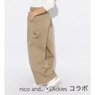 ディッキーズ(Dickies)の美品nico and... Dickies コラボ ワイドパンツ チノ Lサイズ(チノパン)