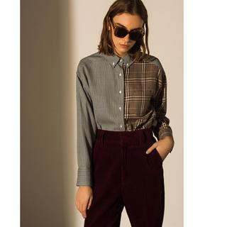 ミラオーウェン(Mila Owen)のミラオーウェン アシンメトリーチェックシャツ(シャツ/ブラウス(長袖/七分))