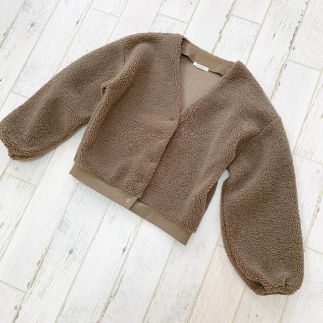 w closet(ダブルクローゼット)のボアブルゾン レディースのジャケット/アウター(ブルゾン)の商品写真