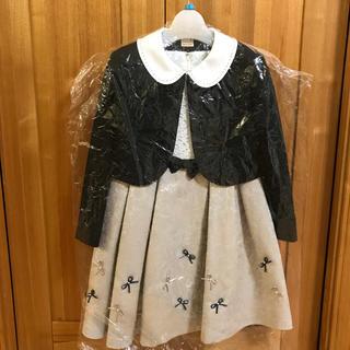 プティマイン(petit main)のプティマイン  120 フォーマル 入学式 ジャガード リボン ワンピース(ドレス/フォーマル)