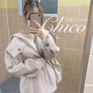 who's who Chico - 新作♡¥8690【Chico】ウールBIGシャツチュニック BIGブルゾン