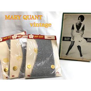 マリークワント(MARY QUANT)のMARY QUANT デッドストック ヴィンテージ ラメストッキング 9(タイツ/ストッキング)