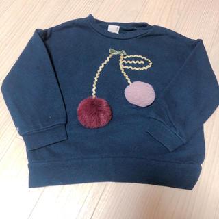プティマイン(petit main)のトレーナー さくらんぼ 100cm(Tシャツ/カットソー)