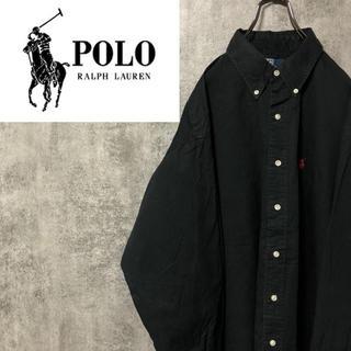 POLO RALPH LAUREN - 【激レア】ポロラルフローレン☆ワンポイント刺繍ビッグボタンダウンシャツ 90s
