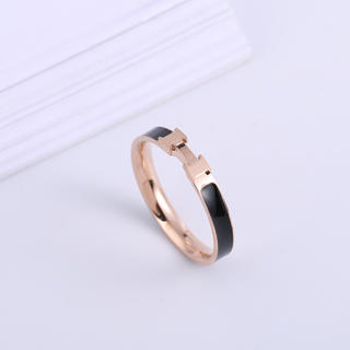 ステンレスリング ステンレス指輪 ピンキーリング  H文字リング (リング(指輪))