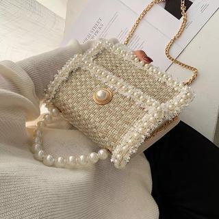 エイミーイストワール(eimy istoire)の♡ ツイードパールミニバッグ ❤︎ 海外インポート品(ショルダーバッグ)