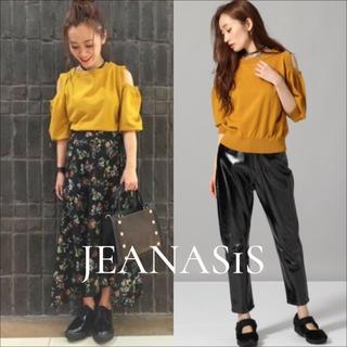 JEANASIS - JEANASIS オープンショルダー ニット プルオーバー♡エモダ ムルーア