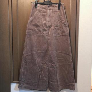 ダブルクローゼット(w closet)のwcloset コーデュロイ ロングスカート(ロングスカート)