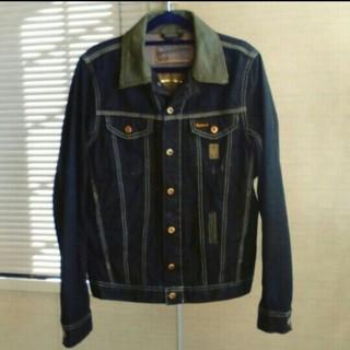 DIESEL - DIESEL 襟が革でお洒落なデニムジャケット