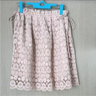 ミニマム(MINIMUM)のMINIMUM MINIMUMお花レーススカート(ひざ丈スカート)