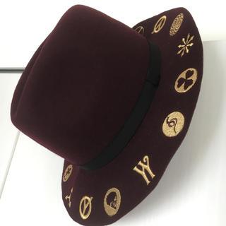 Yohji Yamamoto - 希少14awヨウジヤマモトオム刺繍ハット